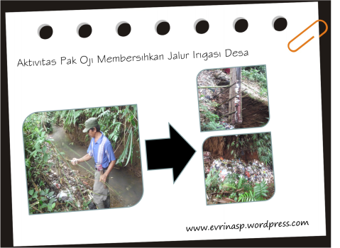 Kegiatan Pak Oji Membersihkan Jaringan Irigasi Desa